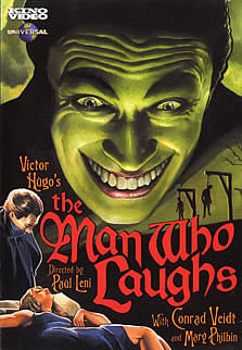 "cartaz do filme de Paul Leni ""The Man who Laughs"" de 1928"